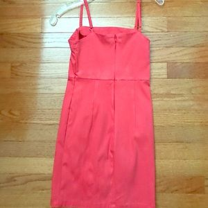 Short coral/red dress